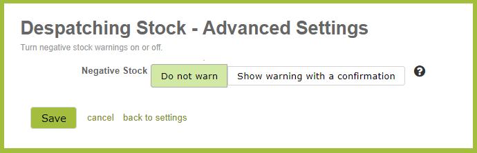 DespatchingStockAdvancedSettings